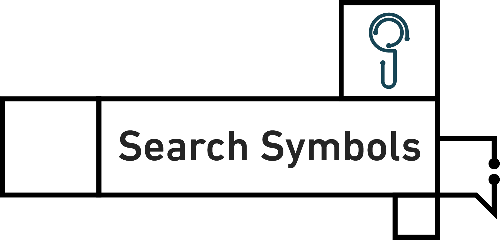 Tawasol Search Symbol